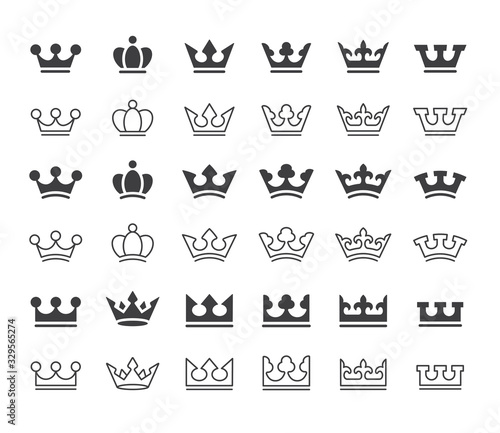 crown icon Wallpaper Mural