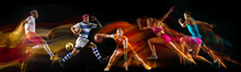 Creative Collage Of Sportsmen ...