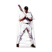 Baseball Player Standing With ...