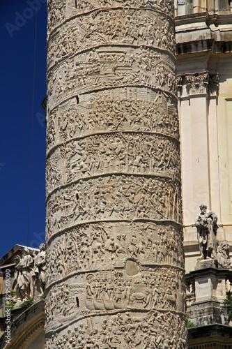 Trajan's Column, Roman triumphal column in Rome, Italy Wallpaper Mural