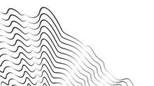 3d Dynamic Forms. Optical Illustration. Graphic Print. Abstract Black Stripes On White. Zebra Effect. Creative Design Element.