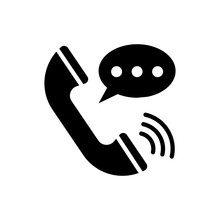 Voice Call Glyph Icon Vector I...