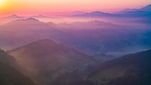 Beautiful Mountains At Sunset ...