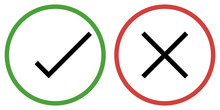 Check Mark And Cross Mark X Confirm And Deny For Apps And Websites Color