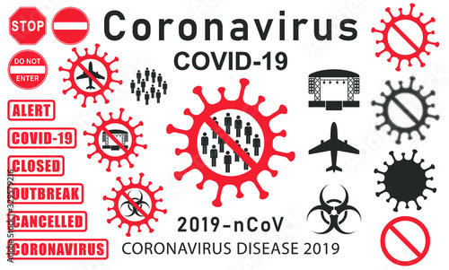 MERS Corona Virus Biohazard safety icon shape Canvas Print