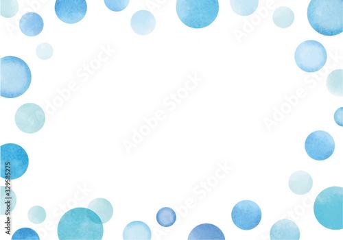 Fototapeta 水彩風雫のフレーム obraz na płótnie