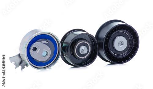 Fotografia, Obraz New auto engine rollers on white background isolation