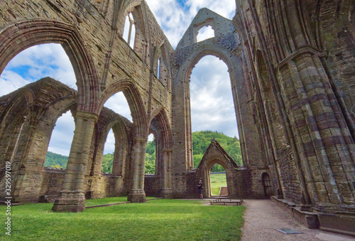The ruins of Tintern Abbey, founded by Walter de Clare, Lord of Chepstow, on 9 May 1131 Canvas Print