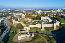 Caen Castle - 1060, William Of Normandy Established A New Stronghold In Caen. Chateau De Caen Castle In The Norman Town Of Caen In The Calvados Departement In Basse Normandie. Normandy, France