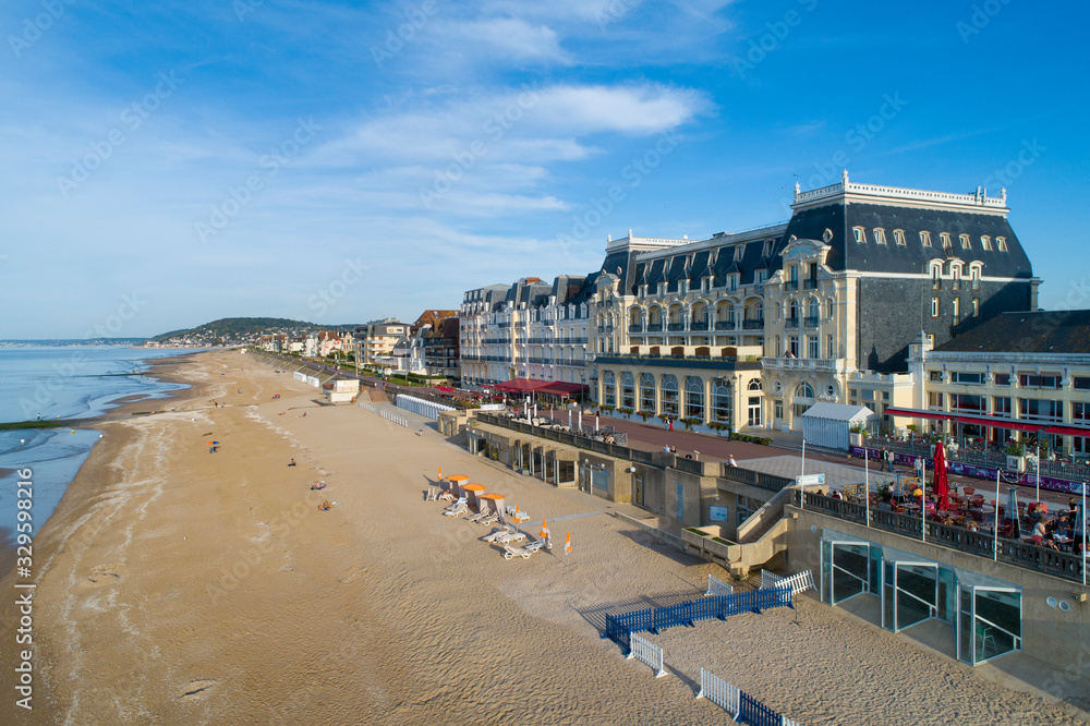 Fototapeta France, Normandy, Aerial view of Cabourg