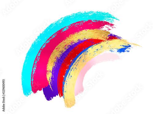 Fototapeta Abstract watercolor brush strokes isolated on white, creative illustration,fashion background. Vector obraz