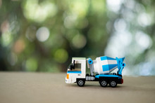 Blue Cement Mixer Truck Toy. B...