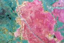 Rhodonite Pink Massive. Close-...