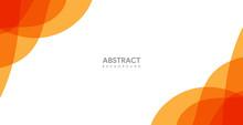 Modern Abstract Background Design, Orange Wallpaper Vector.