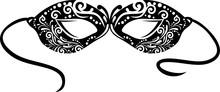 Vintage Black Masquerade Mask