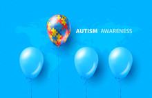 World Autism Awareness Day. Bl...