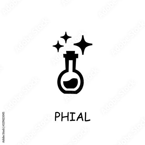 Photo Phial flat vector icon