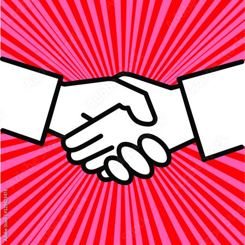 Photo Handshake icon simple vector illustration