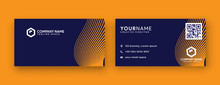 Yellow Business Card Design. D...