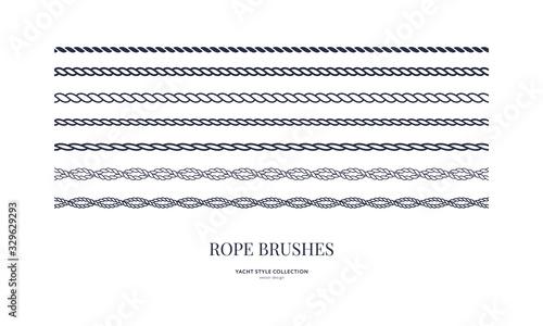 Fotografía Nautical rope brushes set