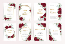 Wedding Invitation Card With R...