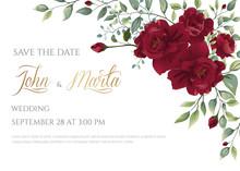 Wedding Invitation Card With R...