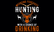 Hunting T Shirt Design With Illustrations.