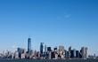 Beautiful New York City Skyline Clear Sky
