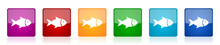 Fish Icon Set, Sea, Animal, Se...