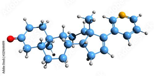 3D image of 3-Keto-5alpha-abiraterone skeletal formula - molecular chemical stru Tablou Canvas