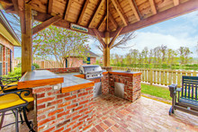 Outdoor Kitchen And Deck