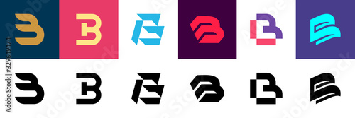Photographie Set of letter B logo