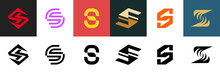 Set Of Letter S Logo. Icon Des...