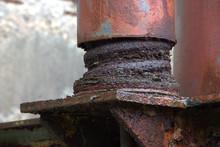 Large Eroded Shock Absorber, V...