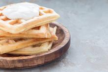 Homemade Savory Belgian Waffle...