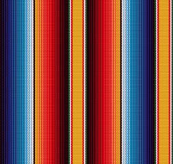 Deka prugastim bešavnim vektorskim uzorkom. Pozadina za dekor za zabavu Cinco de Mayo ili uzorak etničke meksičke tkanine sa šarenim prugama.