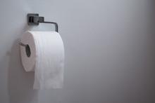 White Paper Toilet Roll On Chr...