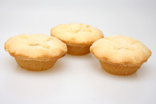 British Mince Pies Against A White Background