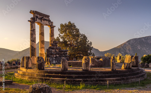 Sanctuary of Athena Canvas Print