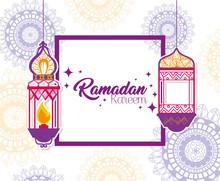Ramadan Kareem Poster With Lan...
