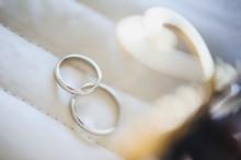 Two White Golden Wedding Rings...