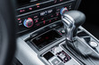 middle console of a modern car