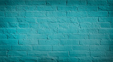 Blue Teal Brick Wall Backgroun...