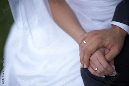 Dłonie z obrączkami, ślub Wallpaper Mural