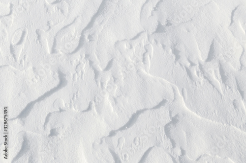 Fotografia, Obraz Fresh snow background - windswept, abstract, sculpted, packed snow
