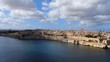 Aerial view over Malta and the city of Valletta - aerial photography