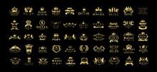 Golden Hotel Luxury Logo Set -...