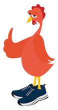 Chicken In Boots, Illustration...