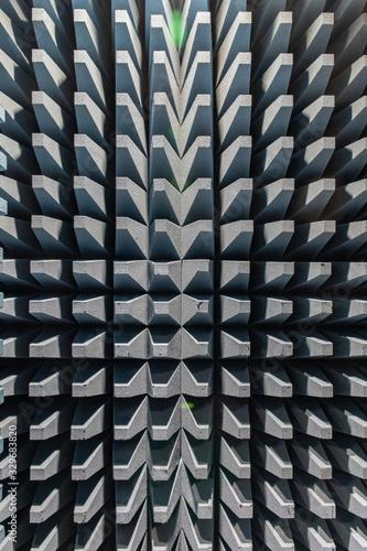 Photo Geometric pattern baffle cones