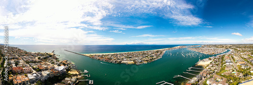 Aerial Panoramic Photography of Newport Beach, California Wallpaper Mural